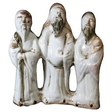 Ceramic Trio of Three Asian Sages Figurine