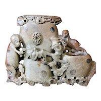 Chinese Brush Pot of Mythological Figures