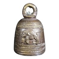 Small Church or Monastery Hand Bell With Elephant Decor