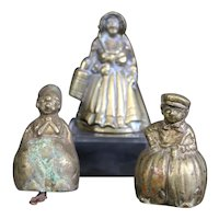 Trio of Small Handbells - Farmer, Farmer's Wife & Lady