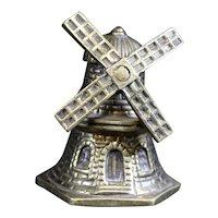 Windmill Themed Bronze Petite Hand Bell