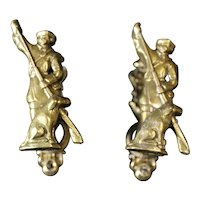 Pair of Bronze Gamekeeper or Hunter Cabinet or Door Handles