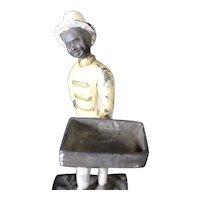Vintage Cast Iron Figurine of Cheerful Bell Boy