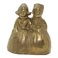 Double Character & Double Clapper Brass Hand Bell