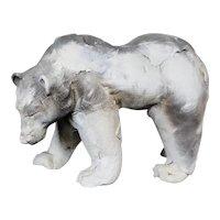 Stunning Raku Ware Polar Bear Figurine