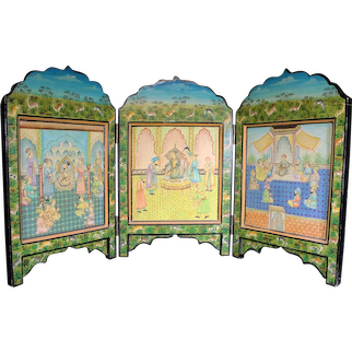 Asian Double Sided Triptych Islamic Themed