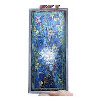 A Flutter of Butterflies Stained Glass Panel
