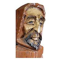 Medieval Brown Friar Figurine Wooden Wine Box