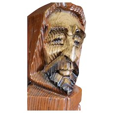 Medieval Brown Friar Figurine Wooden Wine Box