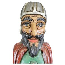Medieval Knight Figurine Wooden Wine Box