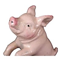 Metal Charming Pink Pig Bookends