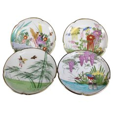 Colorful Animal & Flora Themed Japanese Decorative Plates