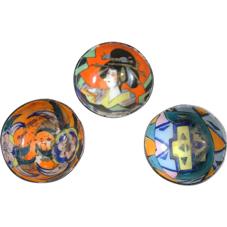 Small Japanese Highly Decorated Porcelain Bowls