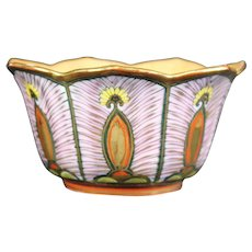 Highly Decorated Scalloped Petal Japanese Bowl