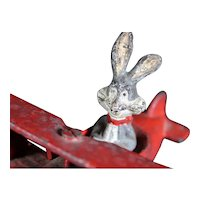 Bugs Bunny Riding His Cast Iron Airplane
