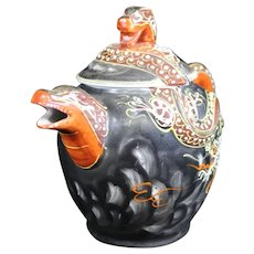 Ornate Chinese Double Dragon Teapot