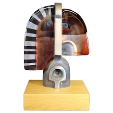 Mats Jonasson - Maleras Glass - Ramses Glass & Bronze Sculpture - Glass