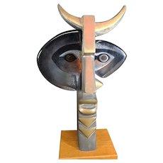 Mats Jonasson - Maleras Glass - Faun Glass & Bronze Sculpture - Glass