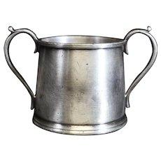 White Metal Two Handled Sugar Bowl