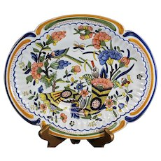 Rouen Style Decorated Geo Martel French Long Platter