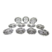 Set of Eleven Bohemian Cut Crystal Coasters
