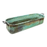 Aged Very Large Rectangular Copper Planter