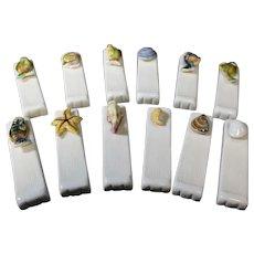 Set of Twelve Ocean Themed Ceramic Knife Rests