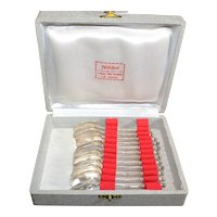 French Apostle Spoons Set of 12 in Presentation Box