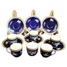 Gien Renaissance Tea or Coffee Cups & Saucers in Classic Renaissance Design