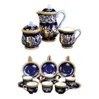 Gien Renaissance Tea or Coffee Service in Classic Renaissance Design