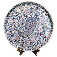 Gien Cachemire Large Round Decorative Plate