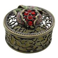 Bejeweled Open Weave Trinket or Dresser Box