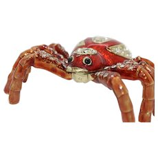 BeJeweled Spider Trinket or Dresser Box