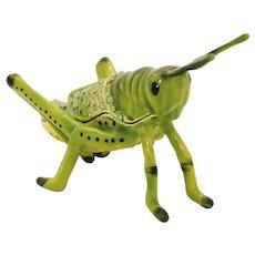 BeJeweled Grasshopper Trinket or Dresser Box