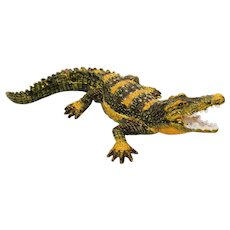 BeJeweled Alligator or Crocodile Trinket or Dresser Box