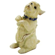 BeJeweled White Sitting Westie Trinket or Dresser Box