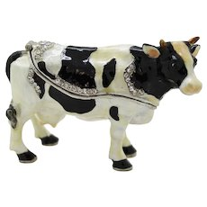 BeJeweled Holstein Friesian Cow Trinket or Dresser Box