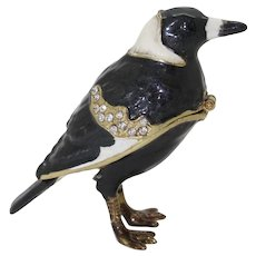 BeJeweled Black Raven Bird Trinket or Dresser Box