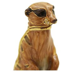 BeJeweled Standing Meerkat Trinket or Dresser Box