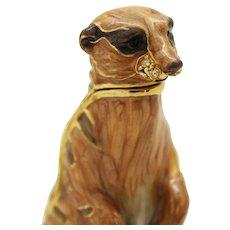 BeJeweled Standing Meerkat Trinket or Dresser Box