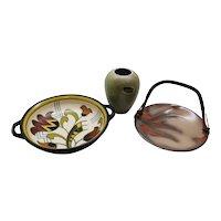 Handled Ceramic Dutch Gouda Dishes & Venlo Vase