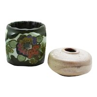Dutch Ceramic Mobach Bud Vase & Gouda Candleholder