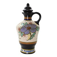 Gouda Ceramic Ornate Handled Bottle with Stopper