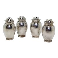 Set of Four Silver Salt Cellars