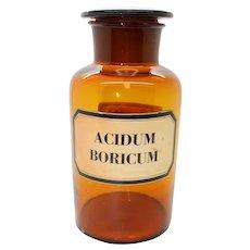 Antique Dutch Pharmacy Bottle - Acidum Boricum