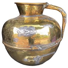 Character Worked Brass Antique Jug