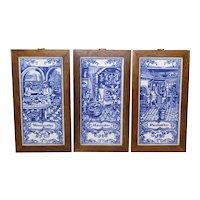 Dutch Blue Tiles Depicting Artisan Workers - S/3