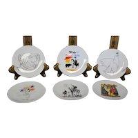 Pablo Picasso Set of Six Delicate Petite Decor Plates