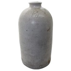 Large Aged Antique English Earthenware Jar - 22cm Tall