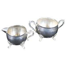 Silverplate Milk Jug & Sugar Bowl